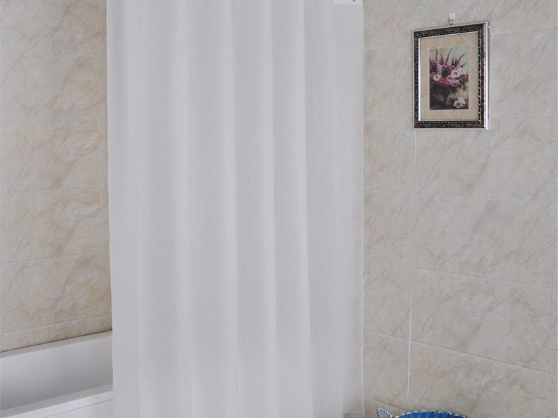 Adding a Shower Curtain brings a fresh touch to your Decor